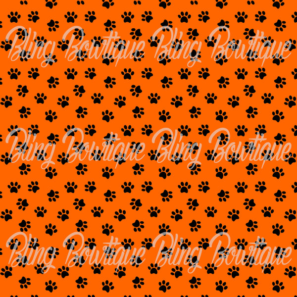 Pawprint Fabric for Bows – Xtreme Bling Bowtique LLC