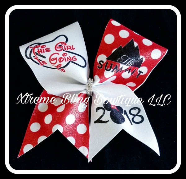 Cheer Bow --Summit Minnie Cheer Bow