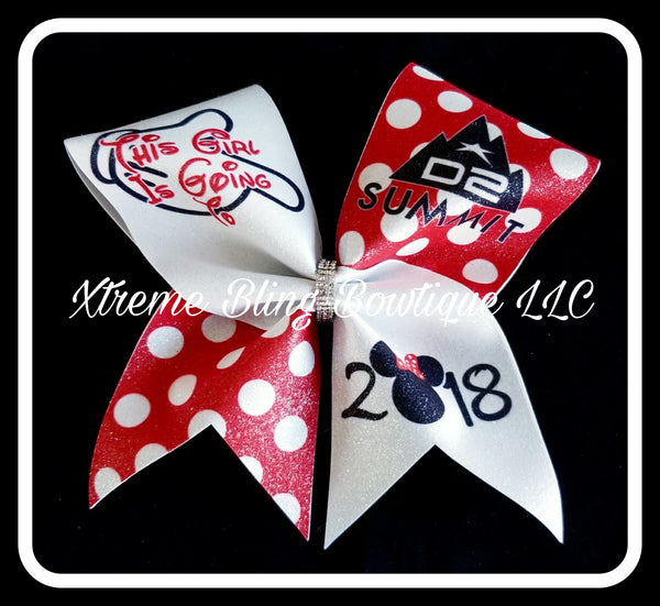 Cheer Bow --D2 Summit Minnie Cheer Bow