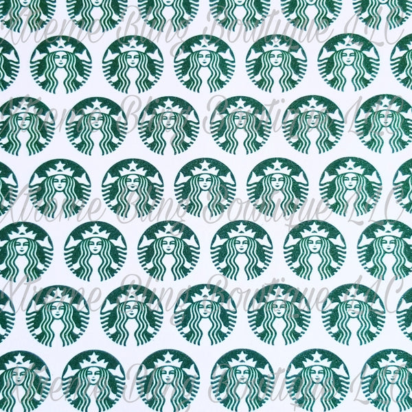 Starbucks Glitter Canvas (large logos) Regular Canvas, Faux Leather For Bows