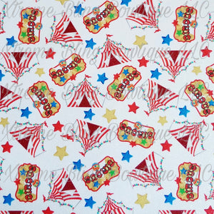 Circus 2 Glitter Canvas, Regular Canvas, Faux Leather For Bows