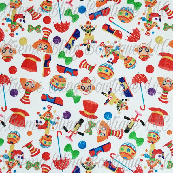 Circus 1 Glitter Canvas, Regular Canvas, Faux Leather