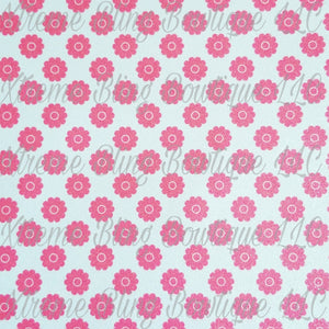 Pink Daisies Glitter Canvas, Regular Canvas, Faux Leather