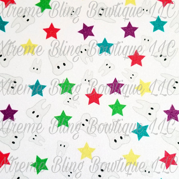 Tooth Fairy 2 Glitter Canvas, Regular Canvas, Faux Leather
