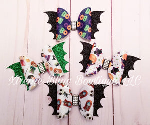 Halloween Bat Hair Bow