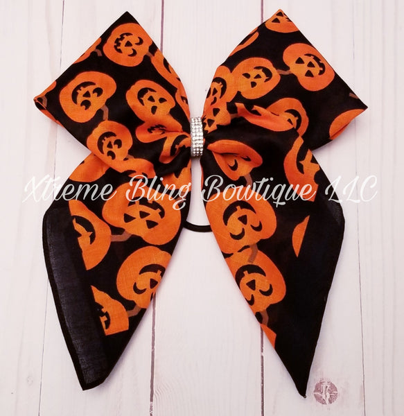 Bandana Hair Bow Pumpkins