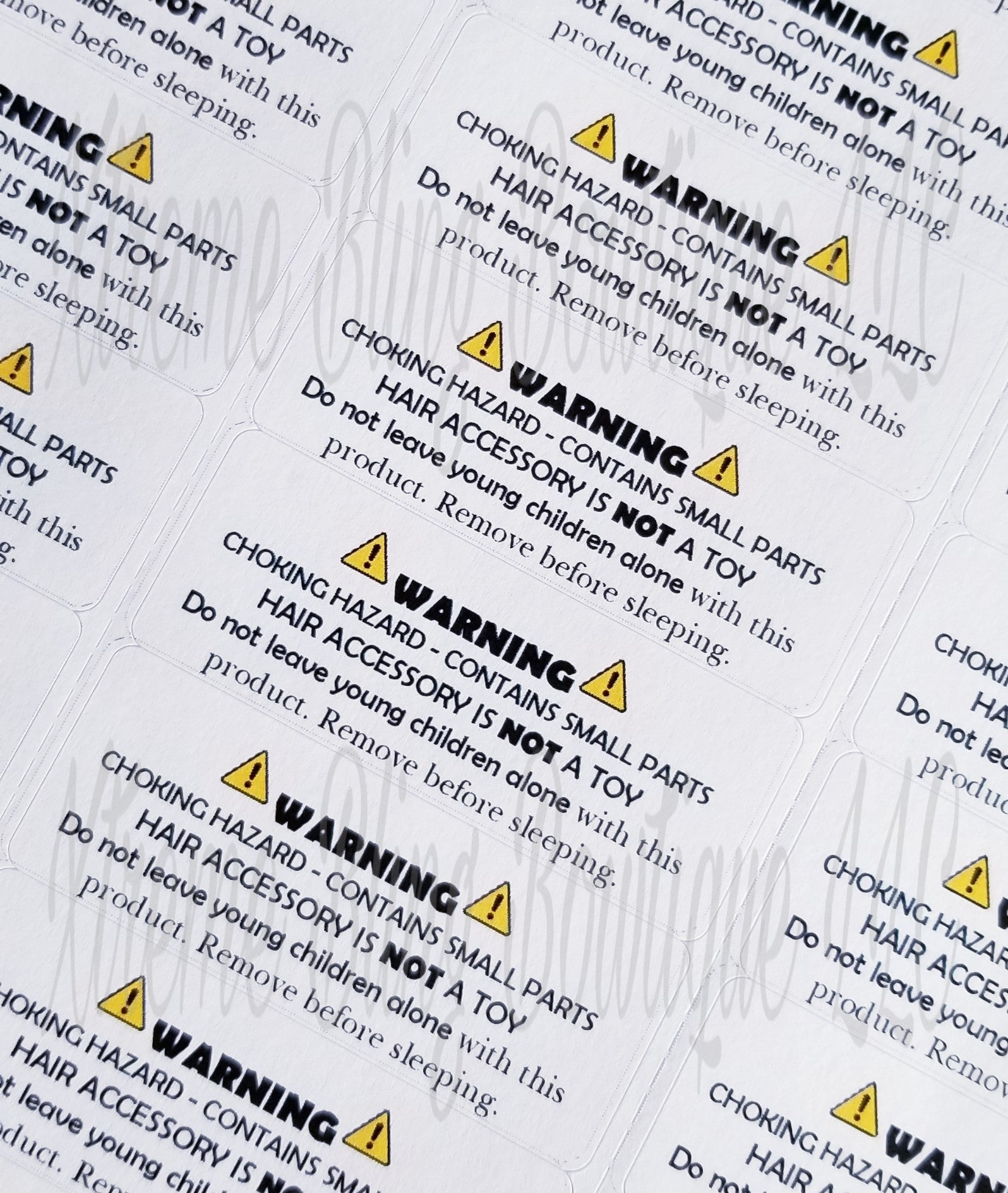 Bow Warning Labels