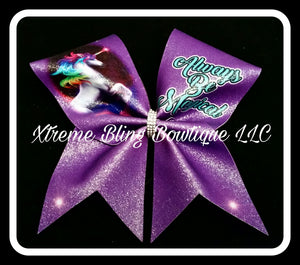 Unicorn Always Be Magical Cheer Bow