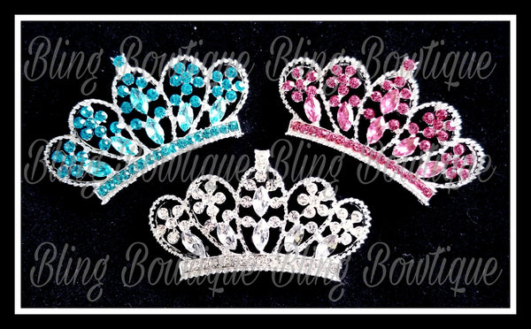 Rhinestone Tiara Bow Center