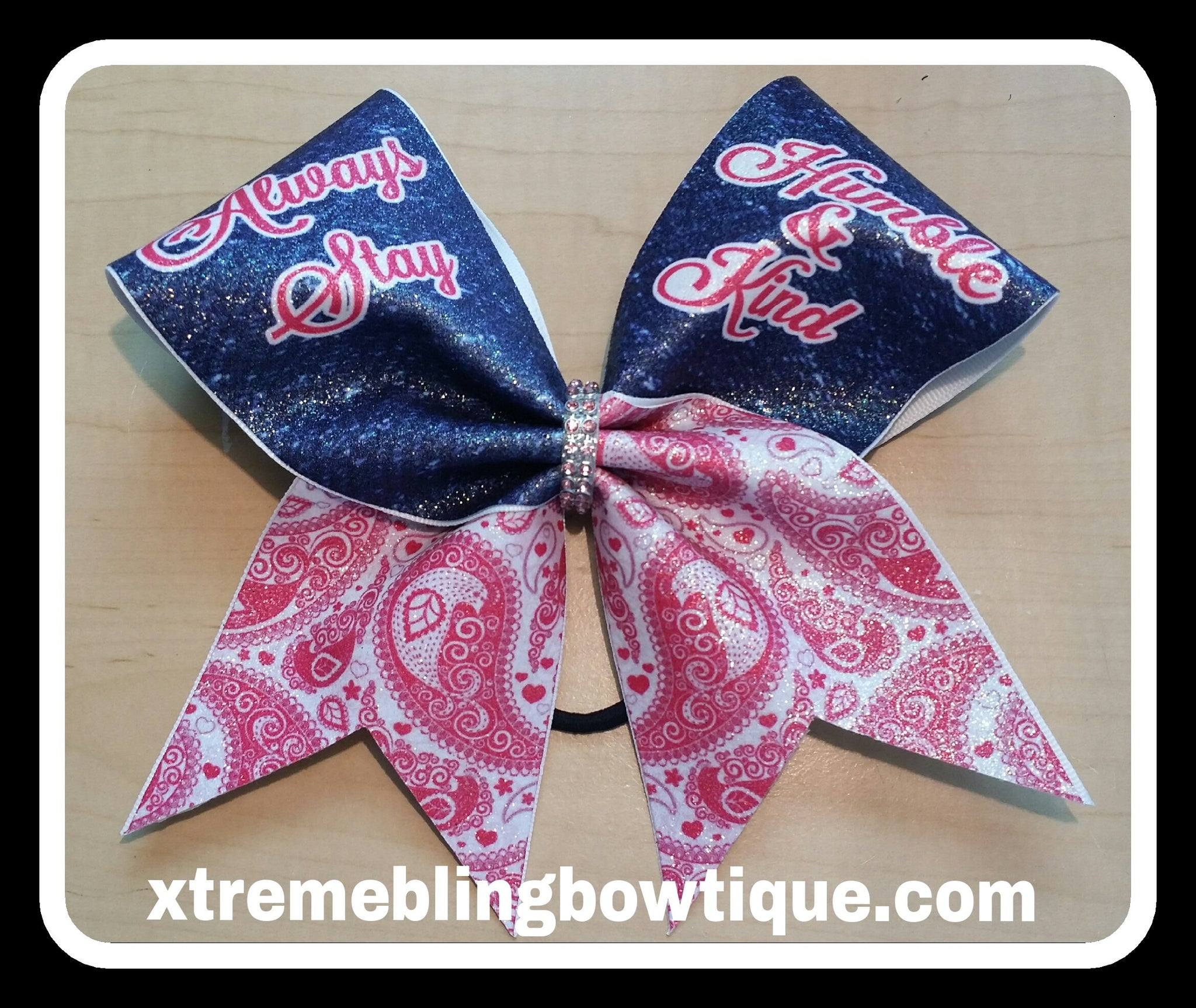 Cheer Bow --Always Stay Humble & Kind