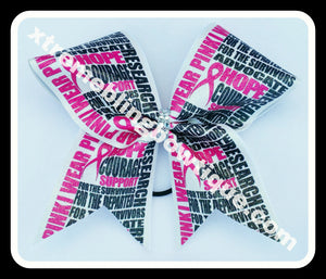 Cheer Bow --Breast Cancer Awareness 3