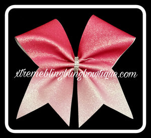 Cheer Bow --Pink To Light Pink Ombre