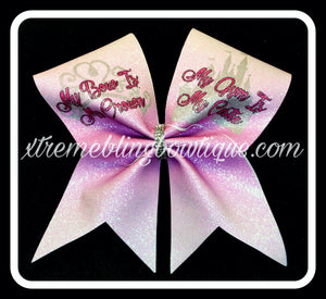 Cheer Bow --My Bow Is My Crown