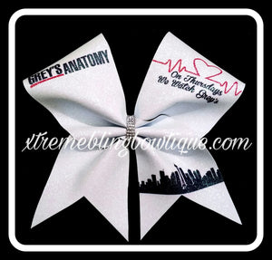 Cheer Bow --Greys Anatomy