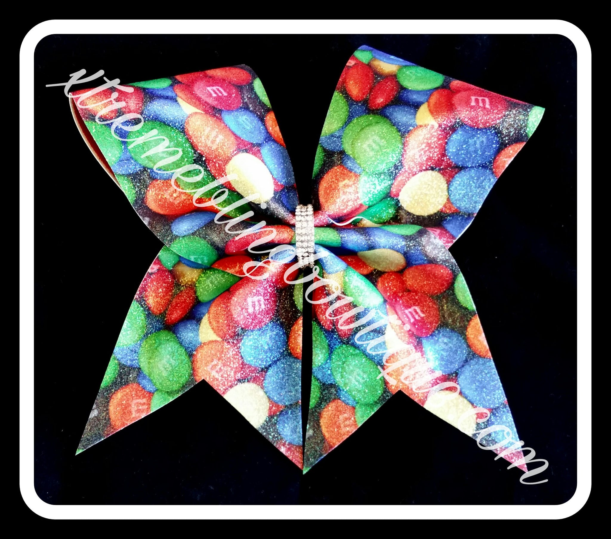 Cheer Bow --M&M's
