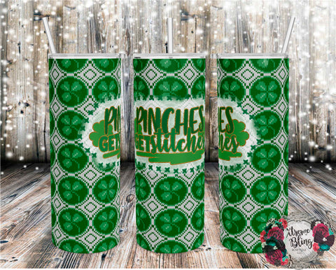 Pinches Get Stitches Ready To Press Sublimation Print for 20oz Straight Skinny Tumbler or 20oz Tapered Skinny Tumbler