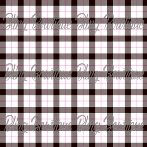 Pink Plaid 2 Glitter Canvas, Regular Canvas, Faux Leather For Bows