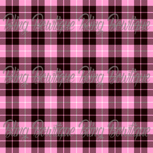 Pink Plaid 4 Glitter Canvas, Regular Canvas, Faux Leather For Bows