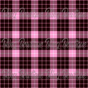 Pink Plaid 5 Glitter Canvas, Regular Canvas, Faux Leather For Bows