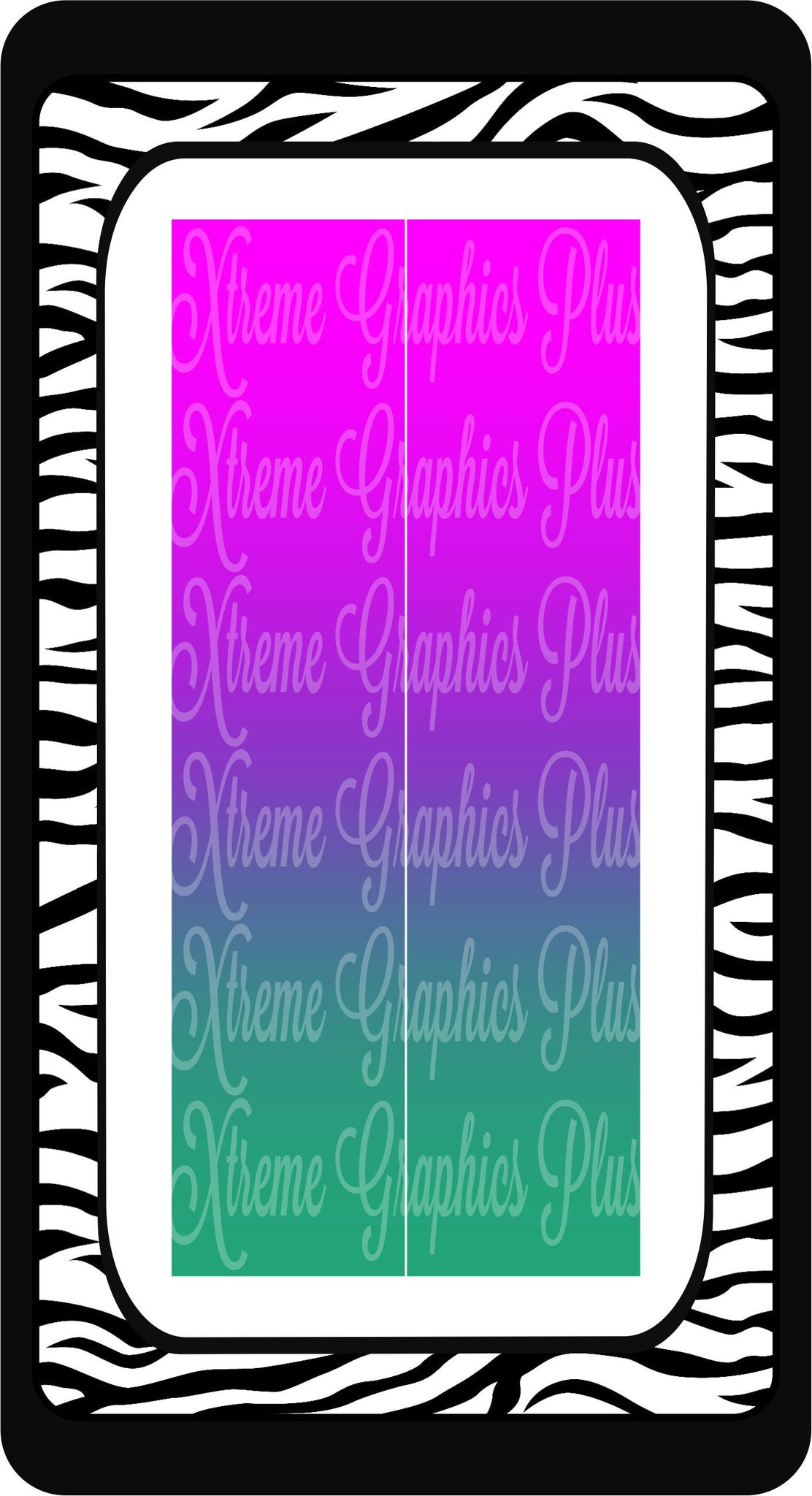 Pink Purple Teal Ombre Ready to Press Sublimation Bow Strips