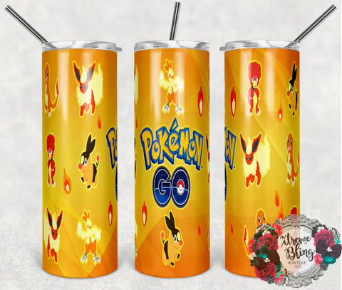 Pokemon Go 10 Ready To Press Sublimation Print for 20oz Straight Skinny Tumbler