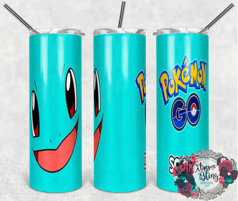 Pokemon Go 11 Ready To Press Sublimation Print for 20oz Straight Skinny Tumbler