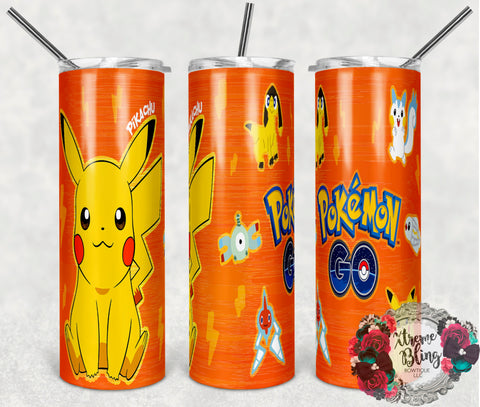 Pokemon Go 17 Ready To Press Sublimation Print for 20oz Straight Skinny Tumbler