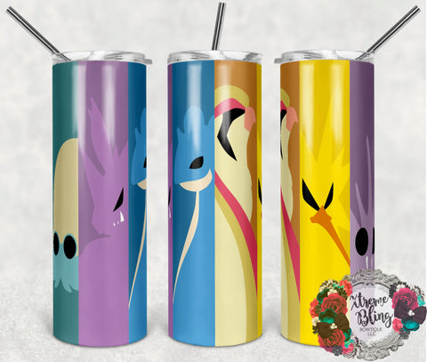 Pokemon Go 18 Ready To Press Sublimation Print for 20oz Straight Skinny Tumbler