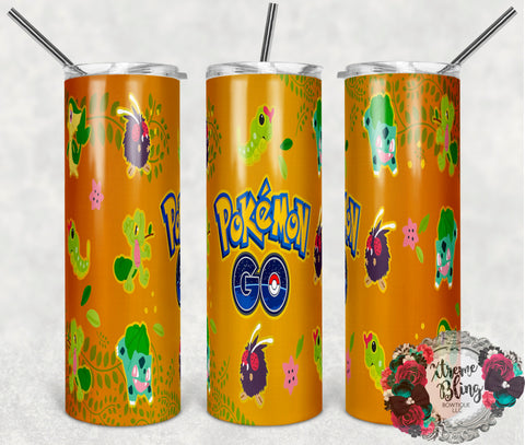 Pokemon Go 1 Ready To Press Sublimation Print for 20oz Straight Skinny Tumbler