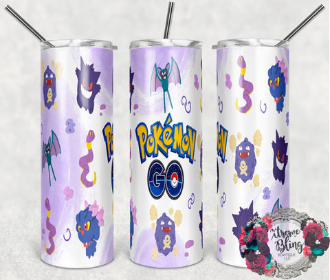 Pokemon Go 4 Ready To Press Sublimation Print for 20oz Straight Skinny Tumbler