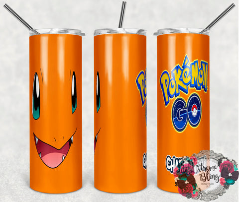 Pokemon Go 8 Ready To Press Sublimation Print for 20oz Straight Skinny Tumbler