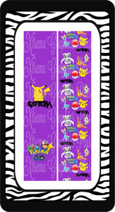 Pokemon Purple Ready to Press Sublimation Bow Strips