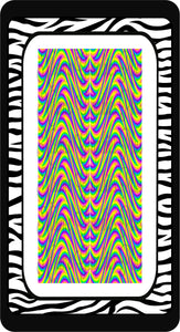 Psychadelic Waves Ready to Press Sublimation Bow Strips