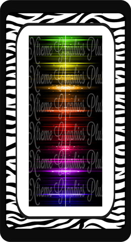 Rainbow Electric Ready to Press Sublimation Bow Strips