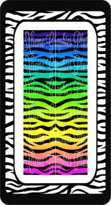 Zebra Rainbow Ready to Press Sublimation Bow Strips