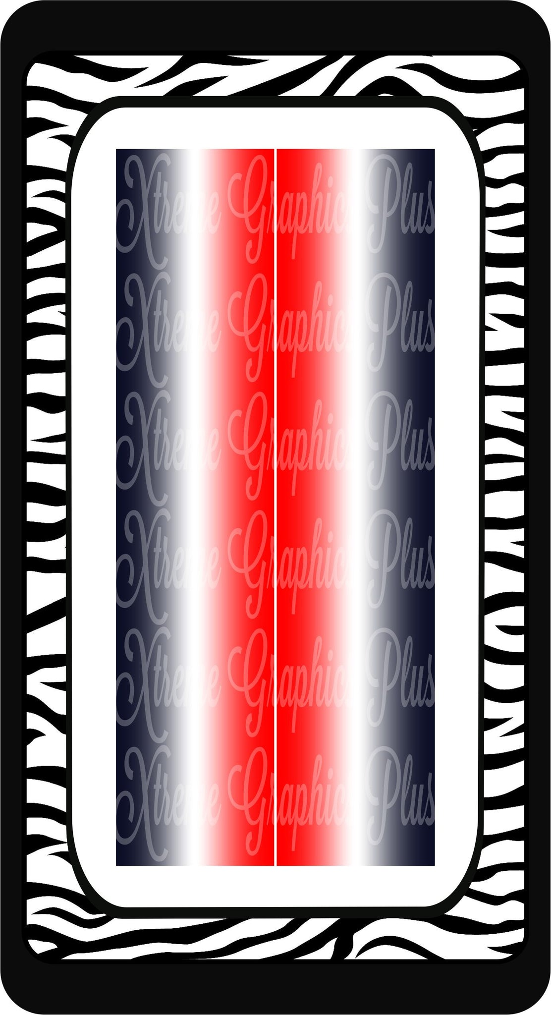 Red White Navy Ombre Ready to Press Sublimation Bow Strips