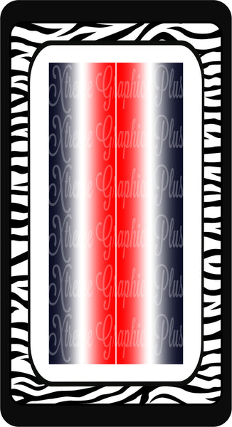 Red White & Navy Ombre Sublimation Bow Strips Download
