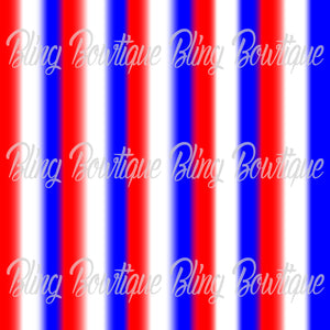 Red White Royal Striped Printed Glitter Canvas, Regular Canvas, Faux Leather For Bows