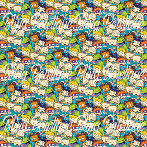 Rugrats 2 Glitter Canvas, Regular Canvas, Faux Leather For Bows