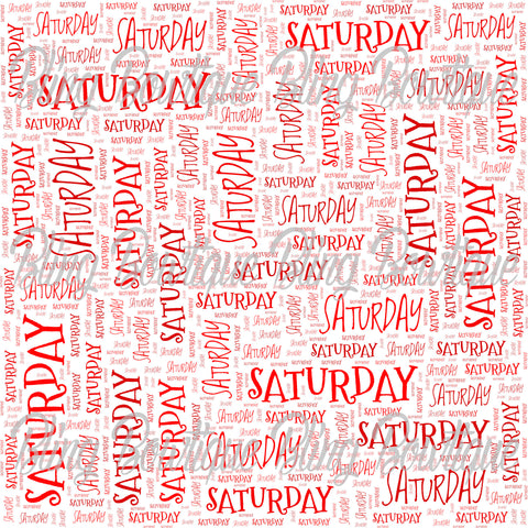 Saturday Collage Printed Glitter Canvas, Regular Canvas, Faux Leather For Bows