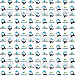 Sea World Printed Glitter Canvas, Regular Canvas, Faux Leather For Bows