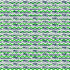 Seahawks Logo Chevron Printed Glitter Canvas, Regular Canvas, Faux Leather For Bows