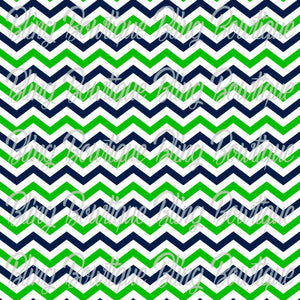 Seattle Seahawks Chevron 2 Printed Glitter Canvas, Regular Canvas, Faux Leather For Bows