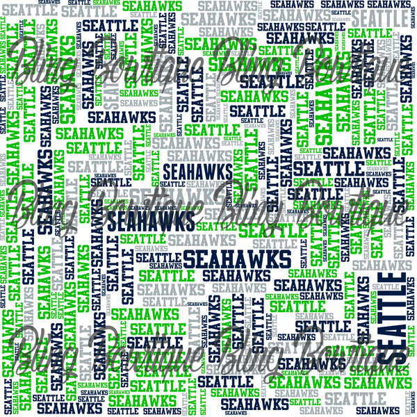 NFL Teams Collage (L-Z)(In Team Colors) Glitter Canvas, Cotton Canvas, Faux Leather, Felt