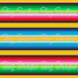 Serape 3 Glitter Canvas, Regular Canvas, Faux Leather For Bows