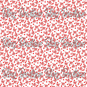 Shopping Carts and Red Dots Glitter Canvas, Regular Canvas, Faux Leather For Bows
