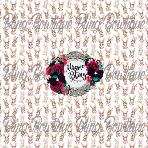 Smart Bunnies Glitter Canvas, Regular Canvas, Faux Leather For Bows