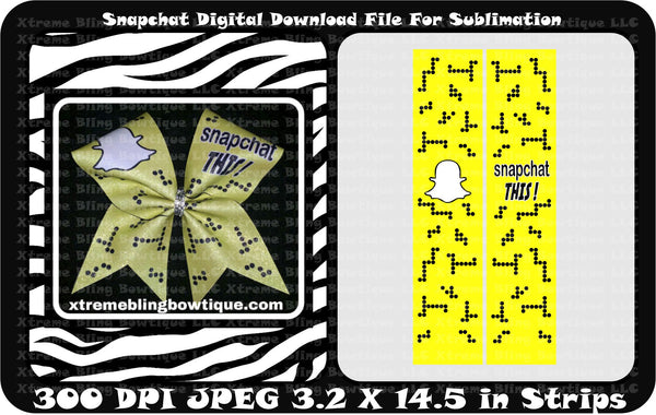 Snapchat This Cheer Bow Sublimation Strips Download File