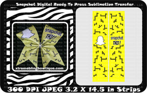 Snapchat Ready to Press Sublimation Bow Strips