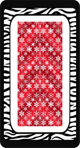 Snowflakes Ready to Press Sublimation Bow Strips